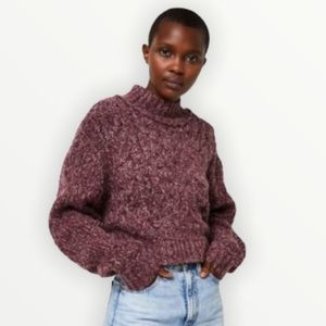 Free people Merry Go Round cropped sweater sz XS